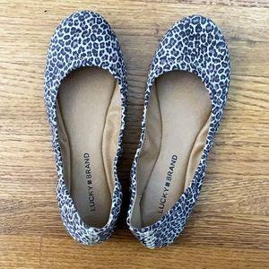 NWOB Lucky Brand Cheetah Print Emmie Ballet Flats
